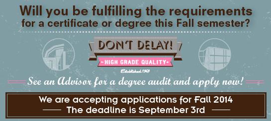 Fall Graduation Application