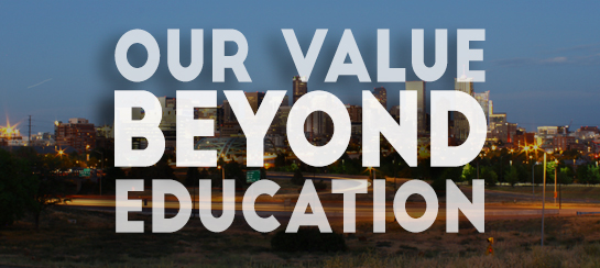 Our Value Beyond Education graphic